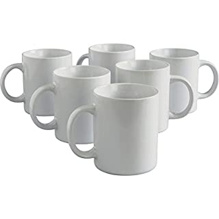 Argos Value Range 6 Piece Mugs Set - White.