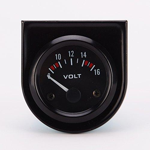WINOMO Tensione LED Meter Gauge voltmetro per Auto auto Professional 816V DC 12V (Gauge Invio Di Unita)