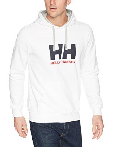 Helly Hansen Herren Hh Logo Hoodie Kapuzenpullover, Weiß (Blanco 001), Large Weiß Terry Hoodie