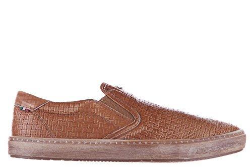 Armani Jeans slip on uomo in pelle sneakers nuove originali marrone EU 42 C6780 83 7J