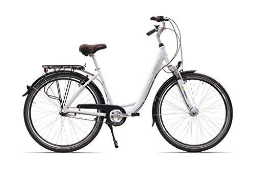 Hawk City 7-G Fahrrad, Wave White, 28 Zoll