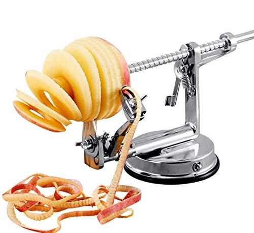 Apple Potato Peeler und Corer Machine Professionelle und einfache Bedienung Use Silber, 30 x 11 x 12,8 cm Apple Peeler Corer