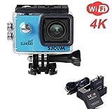 ZIHENGUO SJ4000 WiFi Action-Kamera 2,0-Zoll-LCD-Bildschirm 1080P HD Tauchen 30M Wasserdichte Mini-Camcorder-Sport-DV-Antenne-Camcorder-Fahrrecorder,Blue