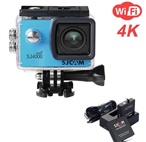ATOMICO SJ4000 WiFi Action-Kamera, 2,0-Zoll-LCD-Bildschirm 1080P HD Tauchen 30M wasserdichte Mini-Camcorder-Sport-DV-Antenne-Camcorder-Fahrrecorder,Blue (Kamera Unterwasser Sj4000 Wi Fi)