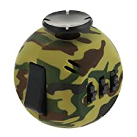 Tagaremuser 6 Sides Fidget Dice Toy Relieves Stress and Anxiety Cube for Children and Adults (Camo Green)