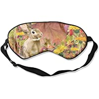 Eye Mask Eyeshade Rabbit in Flowers Sleeping Mask Blindfold Eyepatch Adjustable Head Strap preisvergleich bei billige-tabletten.eu