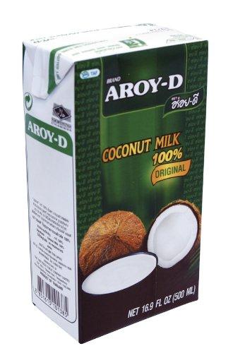 Preisvergleich Produktbild AROY-D Kokosmilch (Fettgehalt ca. 19% - Ideal zum Kochen,  Backen,  für Desserts und Cocktails) 8er Vorteilspack à 500ml