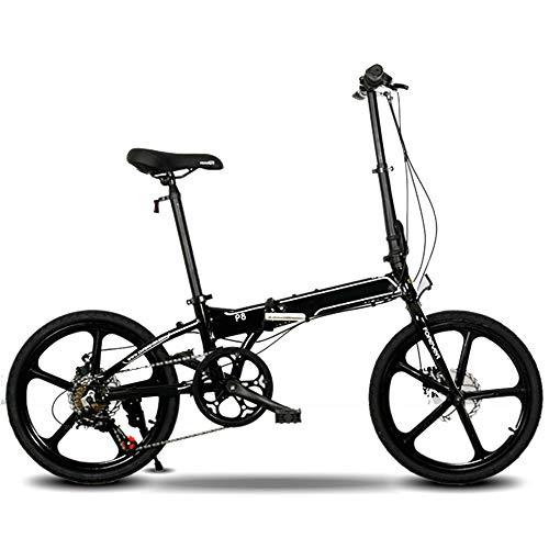 XMIMI Faltrad Einrad Aluminiumlegierung Faltauto 7-Gang-Scheibenbremsen vorne und hinten Jugend 20 Zoll