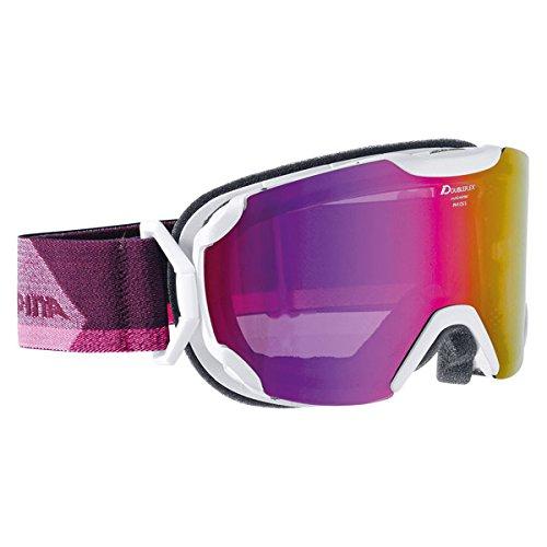 ALPINA Erwachsene Skibrille Pheos S MM Pearlwhite, One Size