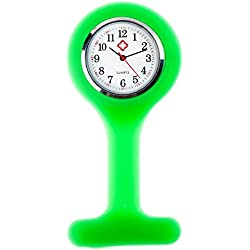 Best Quality Infection Control Silicone Fob Watch For Health Care Workers, Nurses And Doctors In Green By VAGA®