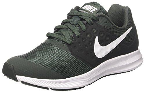 Nike Jungen Downshifter 7 (Gs) Laufschuhe, Grün (Vintage Green/White/Outdoor Green/Black), 39 EU