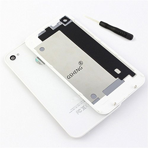 Panel trasero de repuesto de alta calidad y acabado brillante TAPA DE BATERÍA BACK COVER CRISTAL Color blanco For iPhone 4S Battery Back Cover +blanco