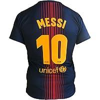 Barcellona Maglia Lionel Messi 10 Replica Autorizzata 2017-2018 Bambino-Ragazzo (Taglie-Anni 2 4 6 8 10 12 14) Adulto (S M L XL) (S)