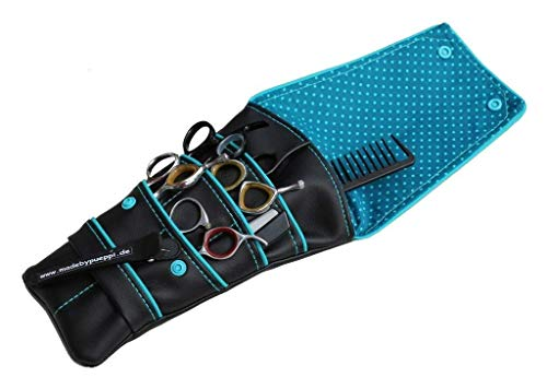 Holster Blau/Punkte Blau Friseurtasche Friseur-Werkzeug-Tasche Blau Holster