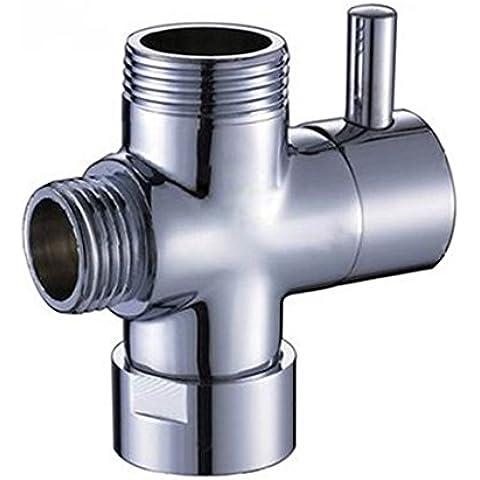 Componentes de ducha Universal cromado latón 3 way ducha brazo Segregator pieza de repuesto válvula de desviador de agua para ducha de mano ducha termostática sistema 1,91 cm BSP entrada