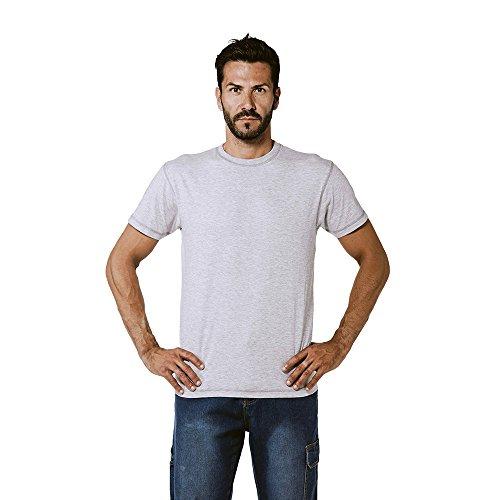 logica-spinning6-t-shirt-cotone-grigio-cuciture-contrasto-scuro-maglia-maniche-corte-girocollo-tinta