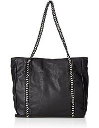 PIECES - Pcmercy Bag, Shoppers y bolsos de hombro Mujer, Schwarz (Black), 15x33x34 cm (W x H D)