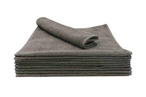 ZOLLNER® 10er Set Gästetücher / Gästehandtücher 30x50 cm aus 100% Baumwolle, taupe, in weiteren Farben und Größen erhältlich, direkt vom Hotelwäschespezialisten, Serie