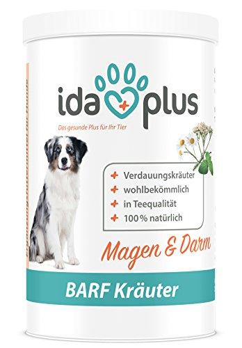 IdaPlus BARF Kräuter Magen & Darm Nahrungsergänzung (100% natürlich) für Hund & Katze, Nahrungsergänzungsmittel für die Verdauung & Darmflora (150 g)