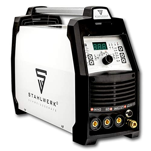 STAHLWERK CT 520 PULS D - digitales Kombi WIG Schweißgerät mit Plasmaschneider & MMA, Job-Speicher, Dünnblech geeignet, weiß, 5 Jahre Garantie