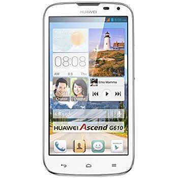 Huawei Ascend G610 Smartphone (12,7 cm (5 Zoll) HD-Display, 5 Megapixel Kamera, 4GB Interner Speicher, Android 4.2) weiß