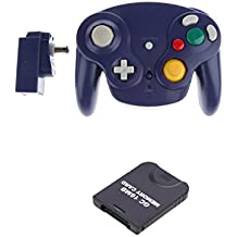 Gazechimp Manette Joystick de Jeu Sans Fil avec Carte de Mémoire 16mb Kit pour Nintendo GameCube / Wii / Wii U GC