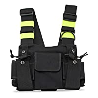 KEESIN Radio Walkie Talkie Chest Pocket Harness Bags Pack Backpack Holster Two Way Radios Carry Case Accessory Holder (Green)