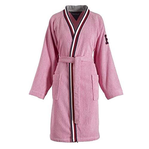 Tommy hilfiger - kimono in spugna melange, pink, large