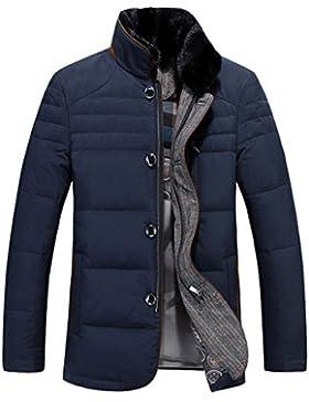Abrigo de invierno negocios chaqueta de los hombres al aire libre , navy blue , m
