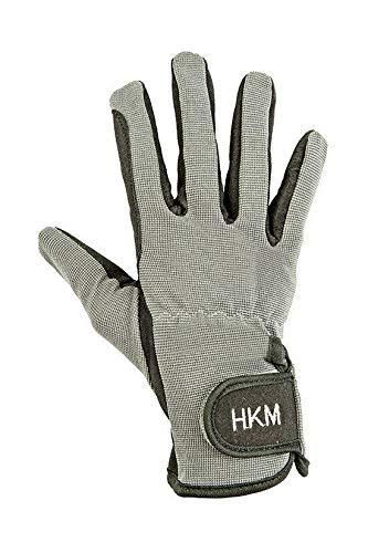 HKM Reithandschuh -Special- aus hochw. Lederimitat, schwarz/grau, 6