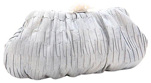 ABBACINO Donna Joanassa Borsetta pochette argento Size: 6x15x35 cm (W x H x L)