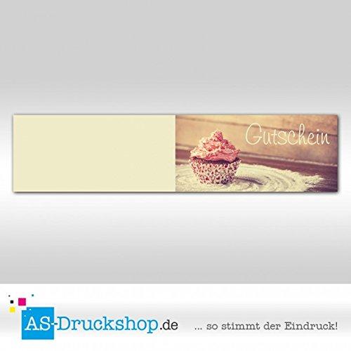 Gutschein Bäckerei Cupcake / 50 Stück / DIN Lang