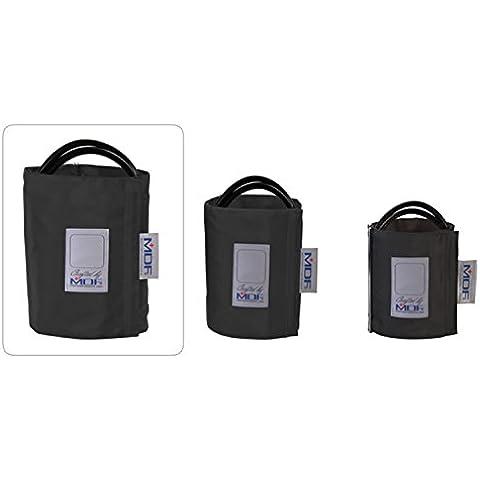 MDF® bracciale per la rilevazione della pressione senza latex - Coscia - Doppio tubo - Anello D - Nero(MDF2090470D-11)