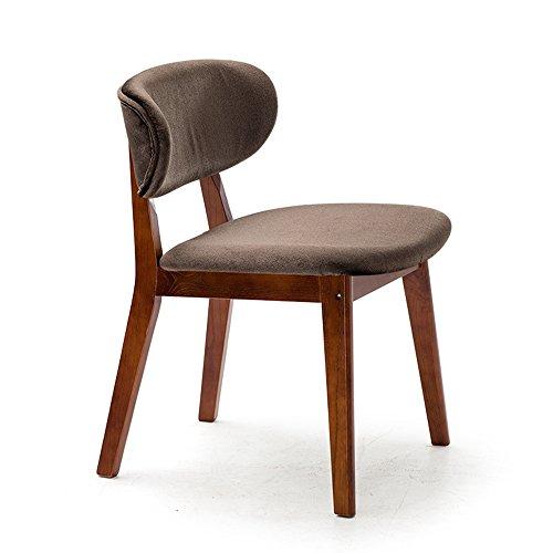 DEO Bureau d'ordinateur Chaise de dossier de chaise de salon de meubles Chaise de salon de café Chaise de salle à manger de tissu en bois solide Chaises durable (Couleur : Marron, taille : 1002)