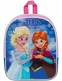 Preisvergleich für Kinder Rucksack - Disney - Die Eiskönigin – Völlig unverfroren - Anna und Elsa - 3D - Kinderrucksack - mit Hauptfach