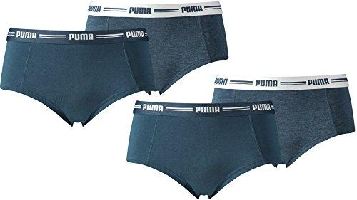 PUMA Damen Basic Mini Short 4er Pack in vielen Farben (dark denim (945), L)