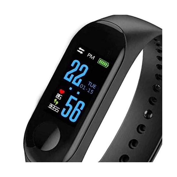 BIYI M3 Unisex Health Tracker Smart Band Reloj Pulsera Pulsera Fitness Tracker Monitor Pulsera (Negro) () 8