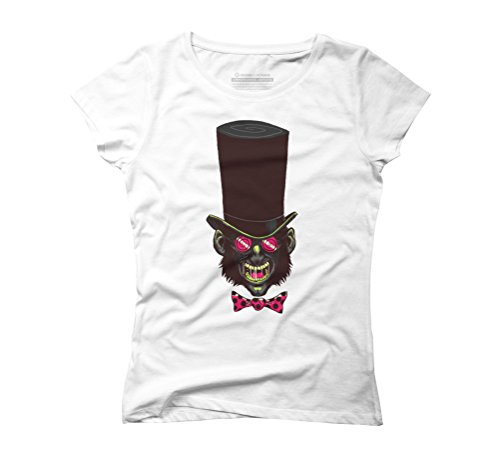 The Mad Hatter Women's 2X-Large White Graphic T-Shirt - Design By Humans (Mad Hatter Bow Tie)