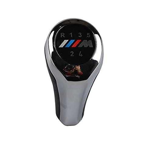 RunQiao 5-Gang Handbuch Auto Schaltknauf für BMW 3er E36 E39 E46 E90 E91 Z3