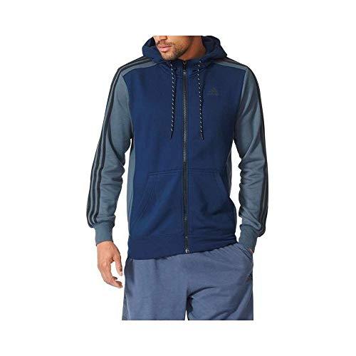 adidas Herren Essential 3-Stripes Full Zip Hoody, Collegiate Navy/Core Heather, XL Core Zip-hoody