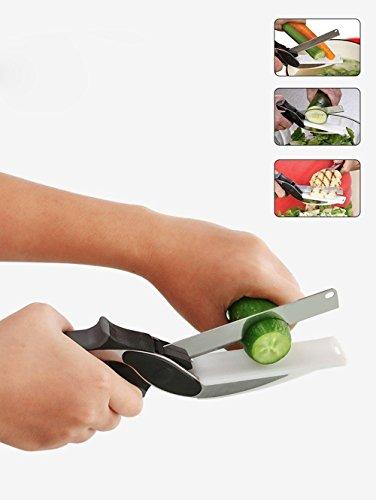 2-in-1food chopper, intelligente cutter coltello da cucina e tagliere combinato, cibo frutta verdura e baby integratore alimentare forbici