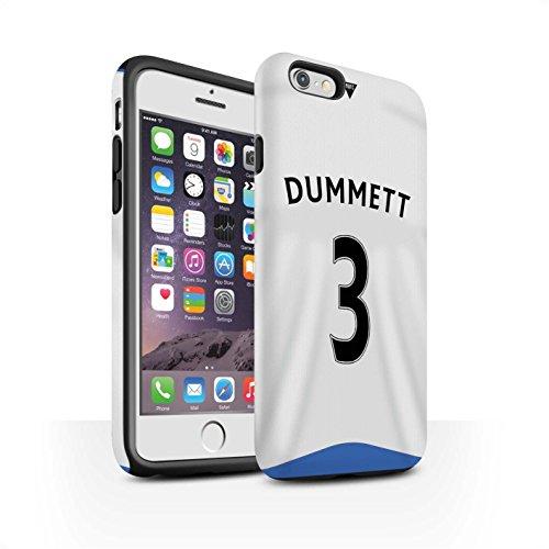 Offiziell Newcastle United FC Hülle / Matte Harten Stoßfest Case für Apple iPhone 6 / Cissé Muster / NUFC Trikot Home 15/16 Kollektion Dummett