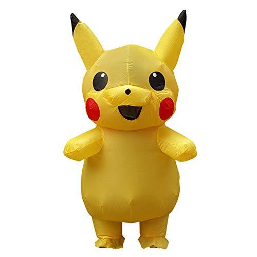 Pikachu Cosplay Kostüm - BaronHong Aufblasbare Pikachu Phantasie Unisex Kinder Erwachsene Ferien Cosplay Kostüm (gelb, L)