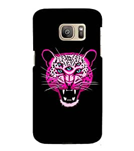 printtech Multiple Eyed Nature Tiger Abstract Back Case Cover for Samsung Galaxy S7 / Samsung Galaxy S7 Duos with dual-SIM card slots