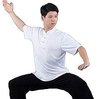 Daoba Kung Fu Uniform Unisex Clothing Costume Gear Martial Arts Wu Shu Wing Chun Tai Chi Fabric Short Sleeve T-Shirt