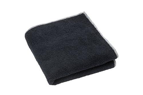 zilotex 95306 Das Backofentuch, 30 x 30 cm, schwarz, bioaktives Mikrofaser-Reinigungstuch ohne Chemie, Aktiv-Silber, allergikerfreundlich