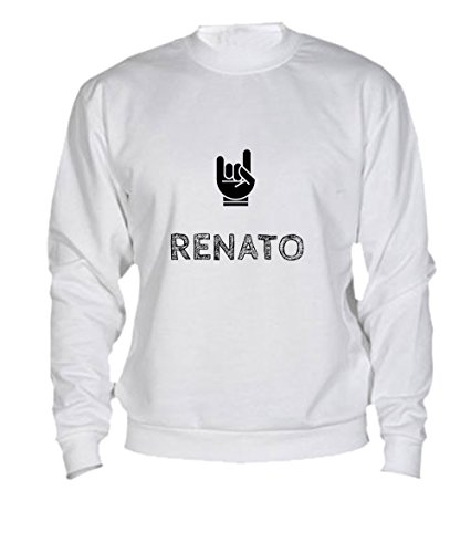 Felpa Renato - Print Your Name White