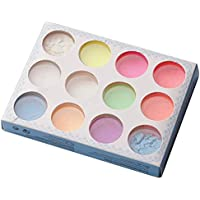 Sanzhileg 12 Colores/Set No tóxico Nail Glitter Seguro Moda Impermeable Party Night Club Fluorescente Efecto Luminoso Polvo Nail Art - 12 Colores
