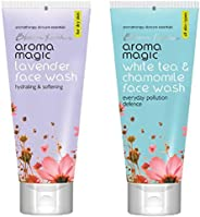 Aroma Magic Lavender Face Wash, 100ml & White Tea And Chamomile Face Wash, 100ml Combo