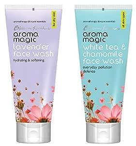 Aroma Magic Lavender Face Wash, 100ml & White Tea And Chamomile Face Wash, 100ml Combo
